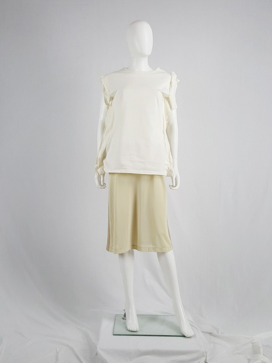 vaniitas vintage Maison Martin Margiela beige skirt with brown back fall 1997 181124