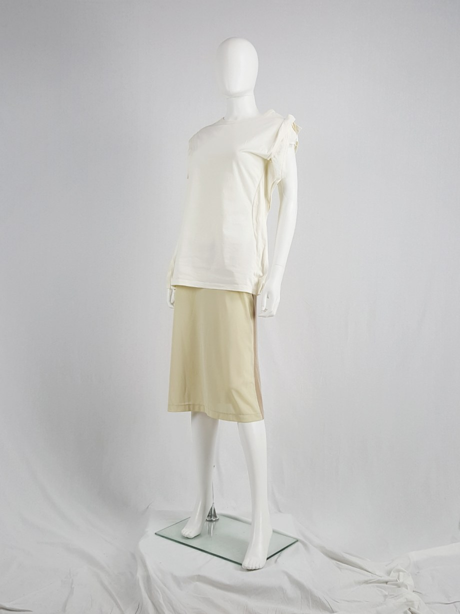vaniitas vintage Maison Martin Margiela beige skirt with brown back fall 1997 181213
