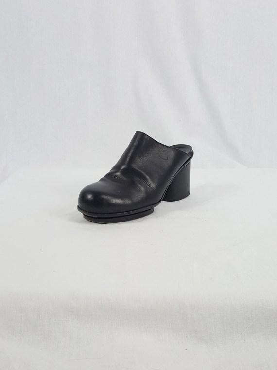 Maison Martin Margiela black platform mules (37) — fall 1999