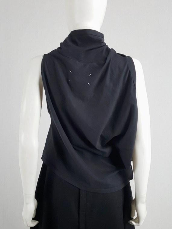 vaniitas vintage Maison Martin Margiela blue sideways-worn t-shirt spring 2005 160541