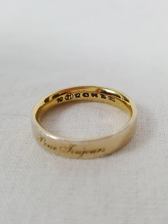 Maison Martin Margiela gold ring 'forever' 'pour toujours' — fall 2007