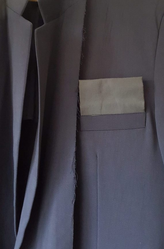 Maison martin Margiela artisanal black pocket scarf — circa 2000