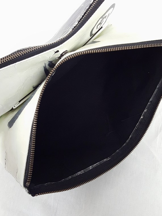 Yohji Yamamoto × Matatabi black and white marbled paper clutch bag — fall 2015