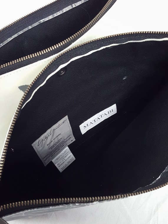vaniitas vintage Yohji Yamamoto × Matatabi black and white marbled paper clutch bag fall 2015 133315