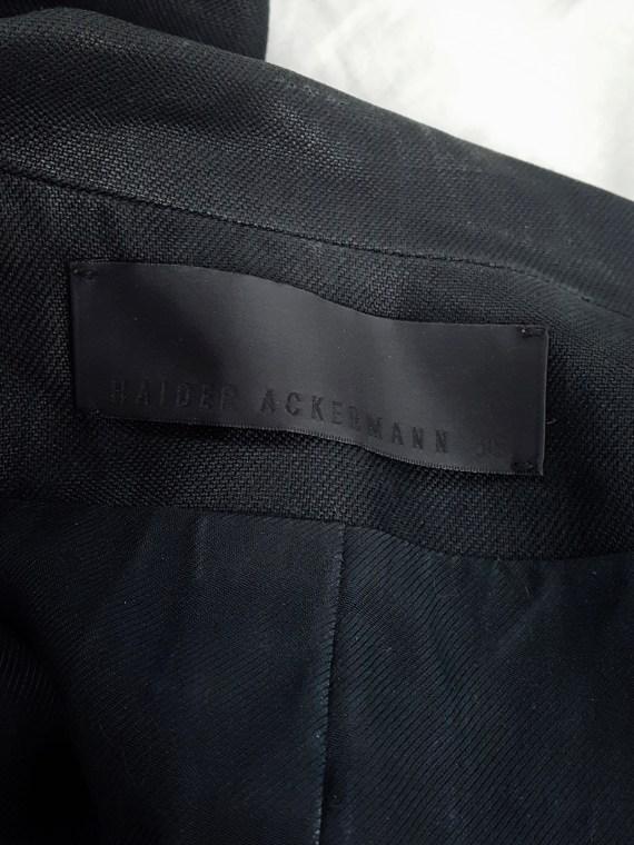 Haider Ackermann blue oversized asymmetric waistcoat with striped detail