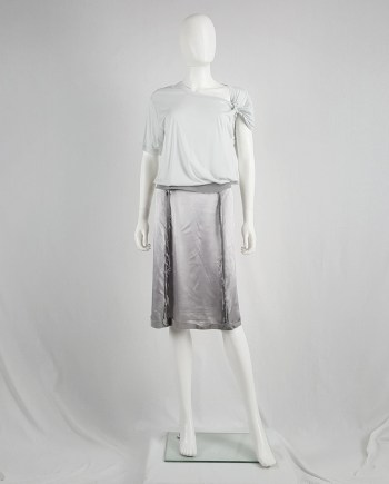 Maison Martin Margiela light blue inside out skirt — spring 2006