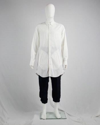 Ann Demeulemeester white oversized shirt with oversized pockets — spring 2011