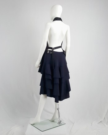 Comme des Garçons navy skirt with back ruffles — fall 2006