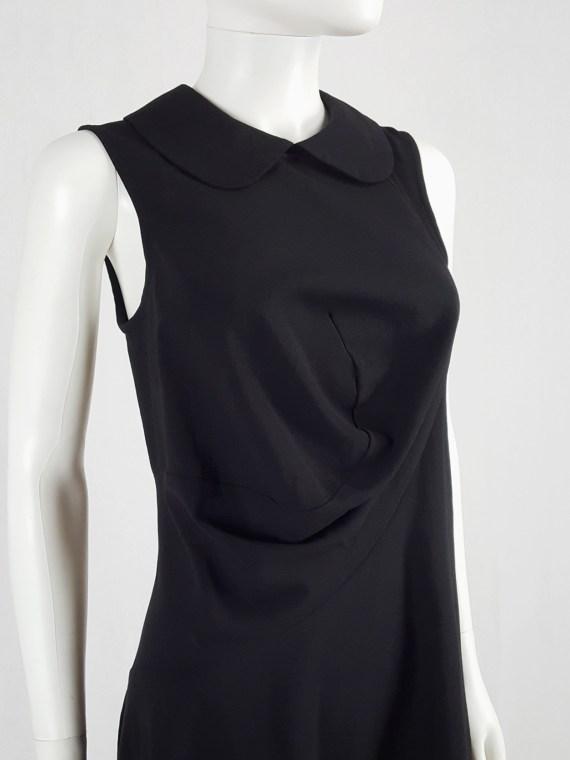 Comme des Garçons black deformed dress with round collar — spring 1995