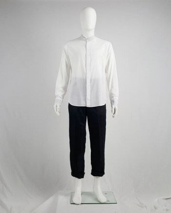 Maison Martin Margiela white minimalist shirt with mao collar — spring 2001