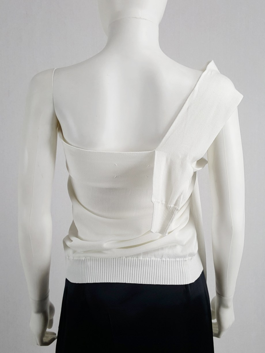 Maison Martin Margiela white one-sleeved top with extra sleeves — spring 2007