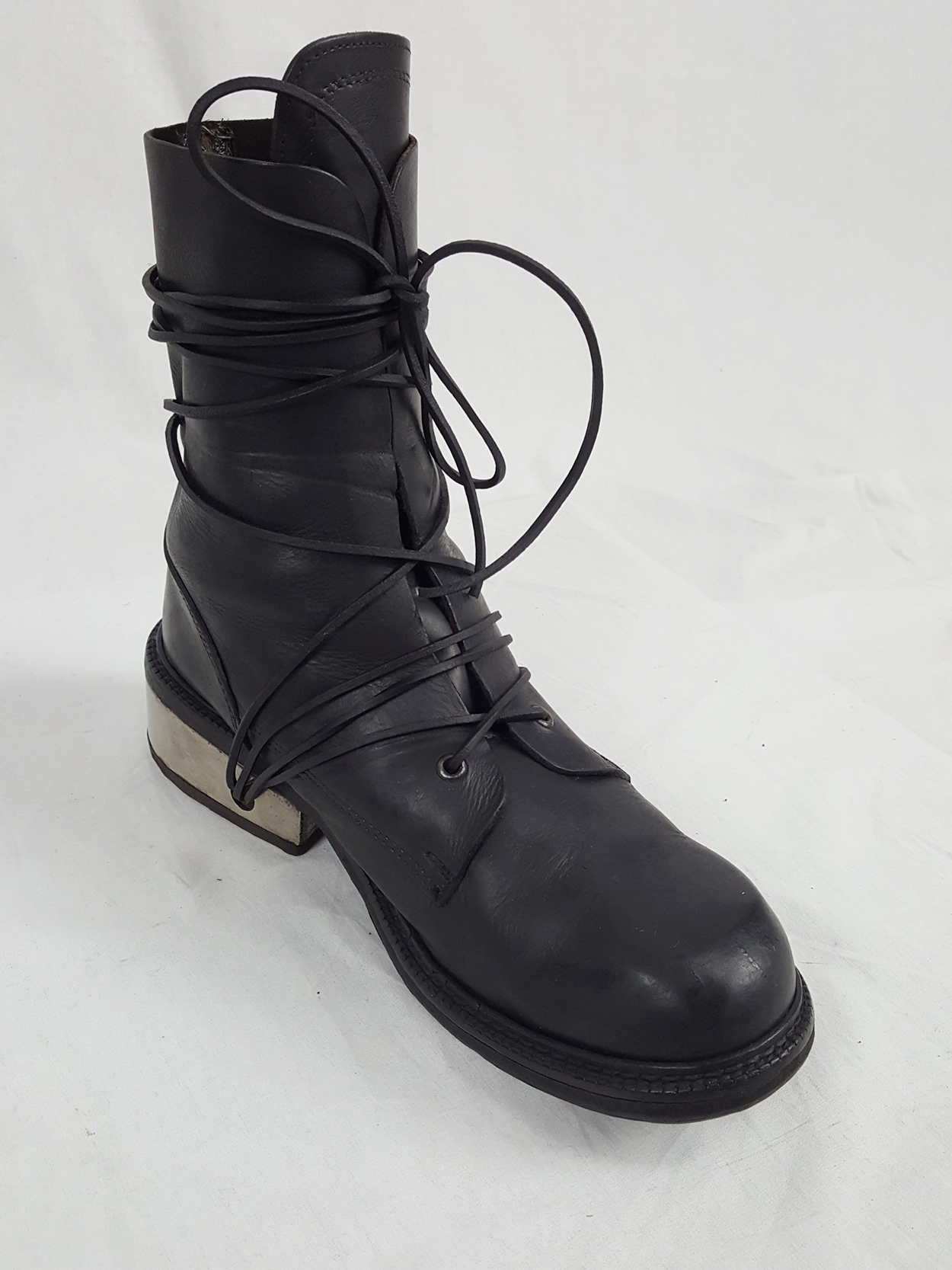 Dirk Bikkembergs black tall boots with