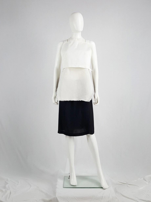 Maison Martin Margiela 6 white backless crop top — 1997/1998