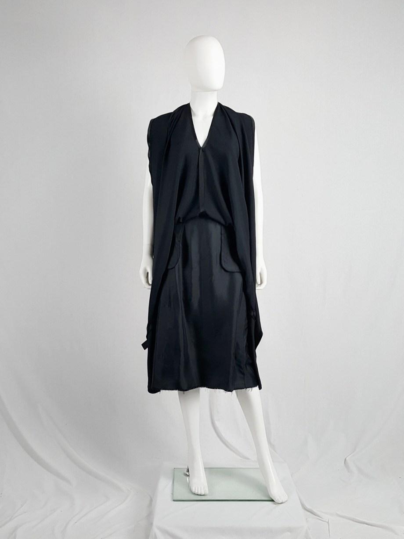 Maison Martin Margiela black transformable dress into skirt — spring 2003