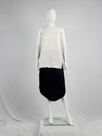 Maison Martin Margiela white wrinkled apron — spring 1999