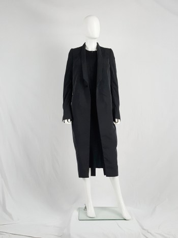 Rick Owens CYCLOPS black long blazer-style trenchcoat — spring 2016