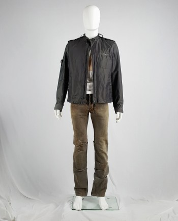 Attachment Kayuzuki Kumagai brown rusted denim with curved legs