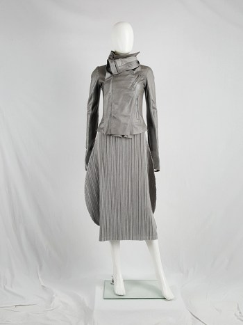 Issey Miyake Pleats Please grey pleated circular skirt