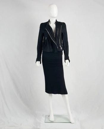 Ann Demeulemeester black wrinkled biker jacket — spring 2006