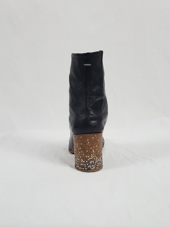 Maison Martin Margiela black tabi boots with nails in the heel (40) — spring 2009 limited edition
