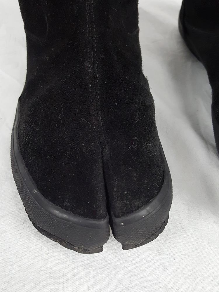 vaniitas vintage Maison Martin Margiela 6 black tall tabi boots spring 2003 152824