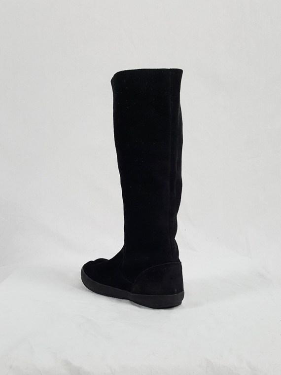 Maison Martin Margiela 6 black tall tabi boots (38) — spring 2003