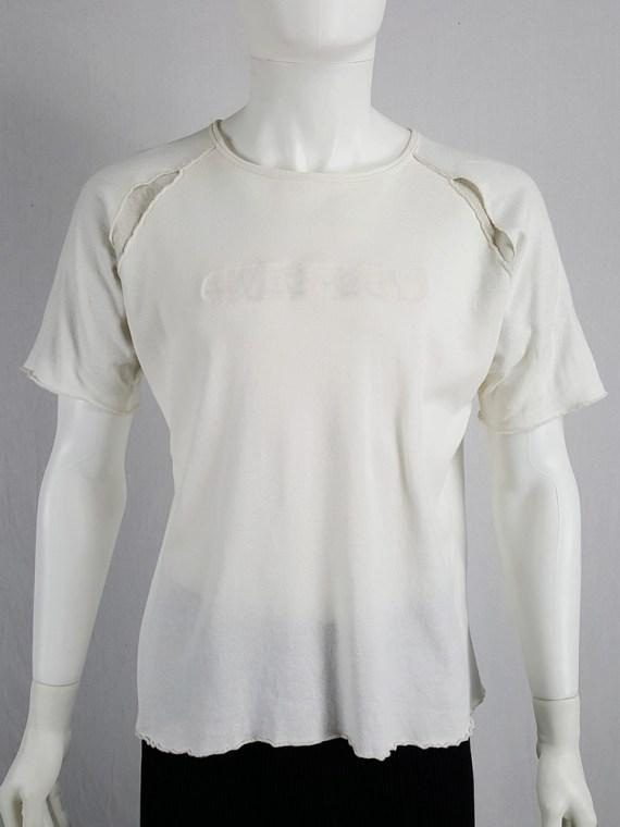 Yohji Yamamoto Y's for men white inside out t-shirt — 80's