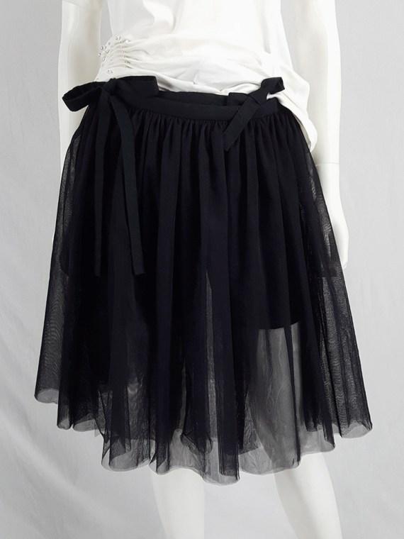 vaniitas vintage Comme des Garcons Black black tulle skirt AD 2013 135723