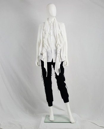 Comme des Garçons white vest with two oversized braids — spring 2003