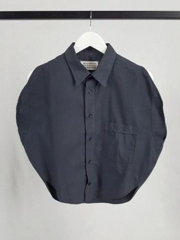 Maison Martin Margiela artisanal blue circle shirt — spring 2002