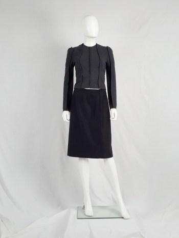 Maison Martin Margiela black backwards skirt — fall 2000