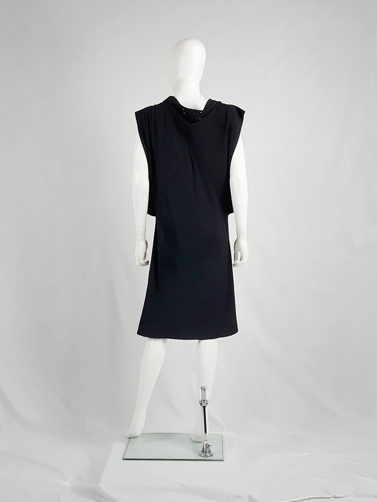 Maison Martin Margiela black square dress with open sides — fall 2007