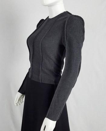 Maison Martin Margiela grey flat jacket — fall 1998