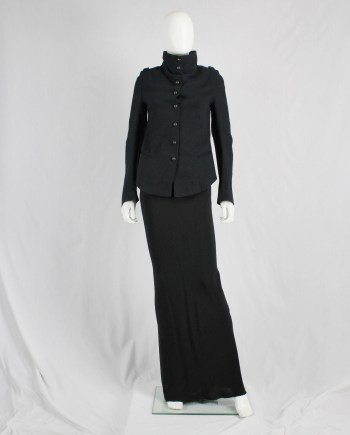 Ann Demeulemeester black victorian blazer with brass buttons — fall 2009