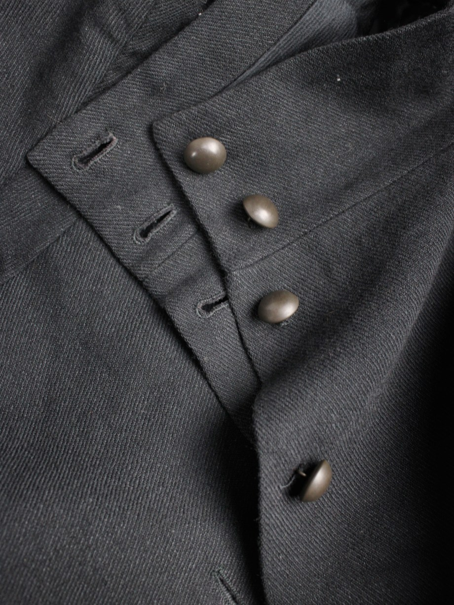 Ann Demeulemeester black victorian blazer with brass buttons — fall 2009
