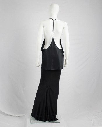 Ann Demeulemeester black backless top with minimalist strap — spring 2010