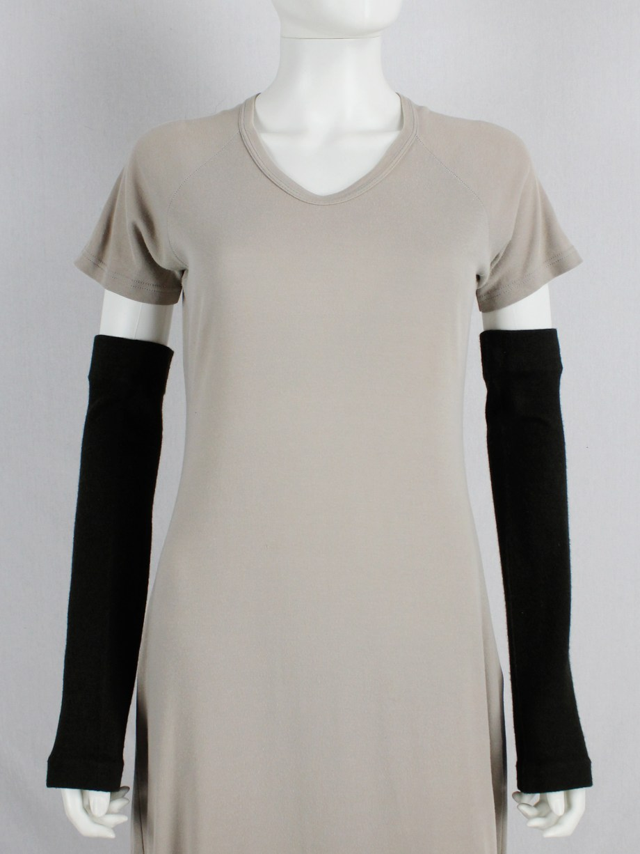 Maison Martin Margiela beige t-shirt dress with open seams — spring 1999
