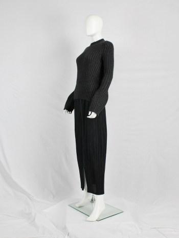 Y's Yohji Yamamoto dark grey jumper with bubble sleeves