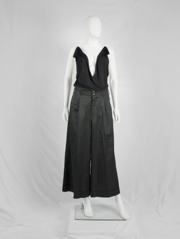 Maison Martin Margiela black floating tunic with invisible straps — spring 2005