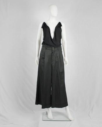 Maison Martin Margiela black floating tunic with invisible straps — spring 2005