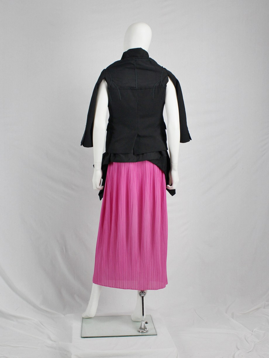 Issey Miyake Pleats Please hot pink maxi skirt skirt with fine vertical pleating