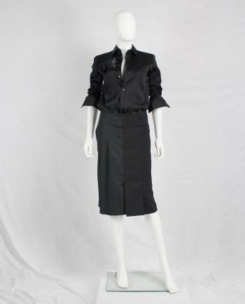 A.F. Vandevorst black skirt made of two different skirts — spring 2008