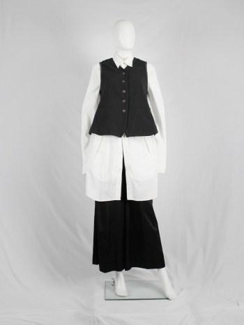 Dries Van Noten brown waistcoat with contrasting shorter back — 1980's