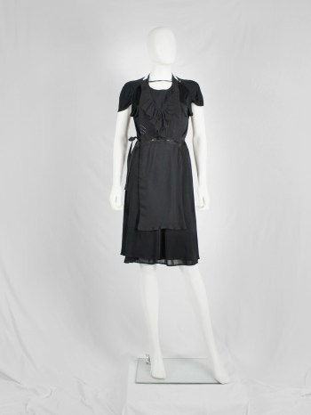 Maison Martin Margiela artisanal black apron with frills — fall 2002