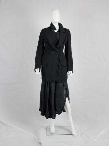 Ann Demeulemeester black asymmetric cutaway blazer — pre-1997