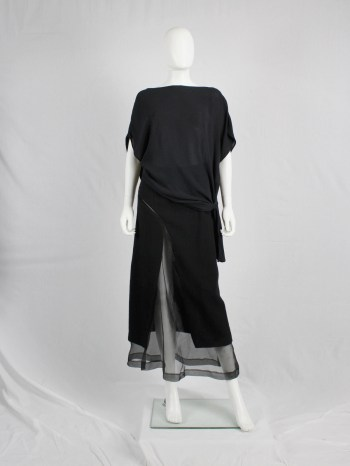 Maison Martin Margiela 1 black draped top twisted over itself — spring 2010
