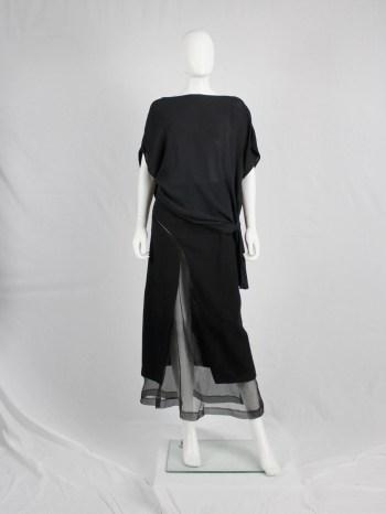 Maison Martin Margiela 1 black draped top twisted over itself — spring 2010