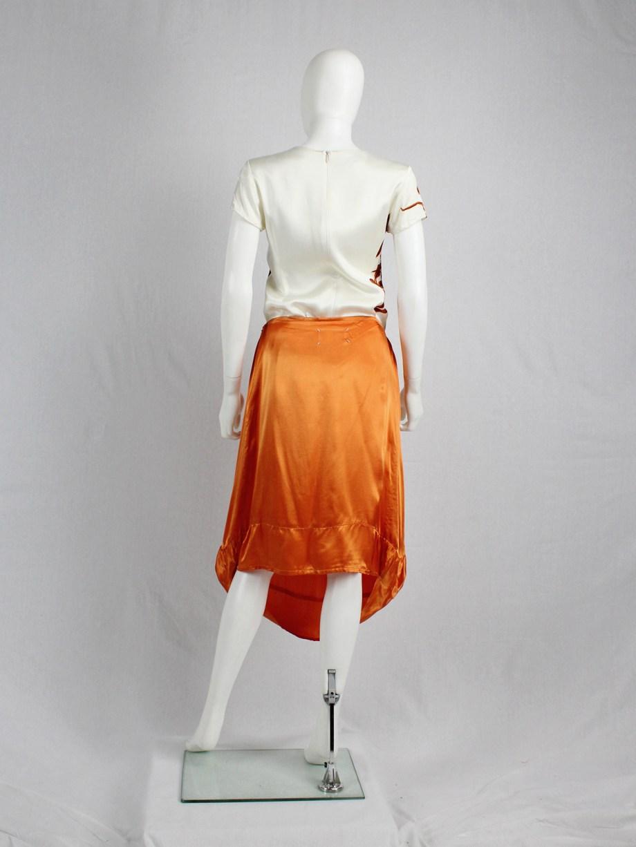 Maison Martin Margiela orange seat cover skirt — fall 2006