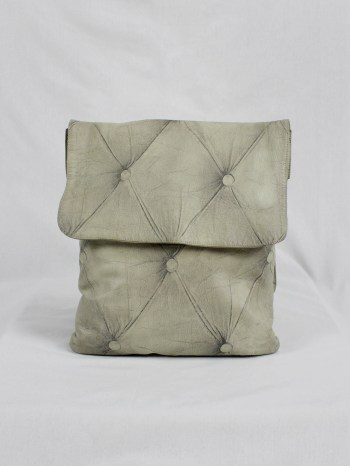 Maison Martin Margiela white bag with trompe-l'oeil of a Chesterfield — fall 2004