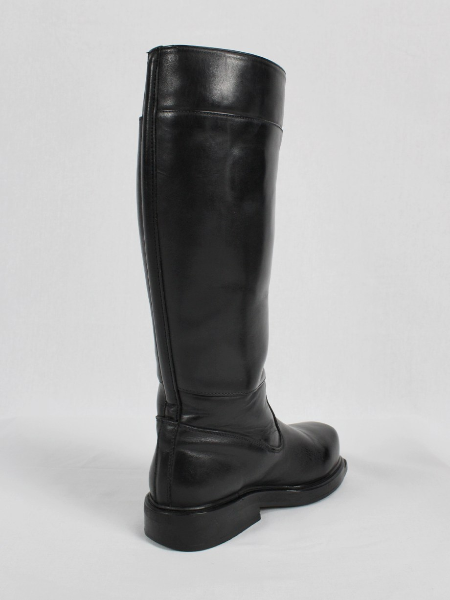 Dirk Bikkembergs black tall boots with mountaineering sole (37) — mid 90's